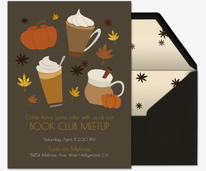Fall Spice Latte Invitation