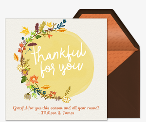 Fall Thankful for You Card