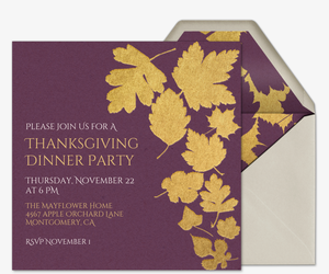 Falling Leaves Invitation