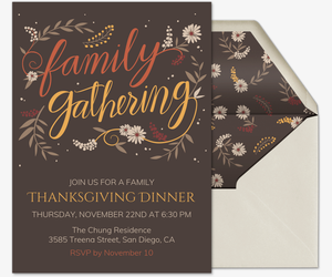 Family Gathering Invite Invitation