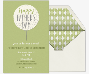 Father's Day Golf Invitation
