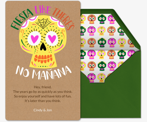 Fiesta Like There's No Mañana Card