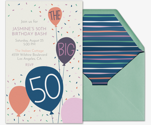 Free Birthday Milestone Invitations