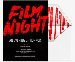 Film Night Type Invitation