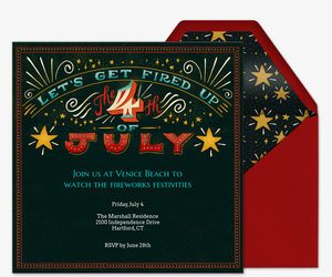 Fireworks Festivities Invitation