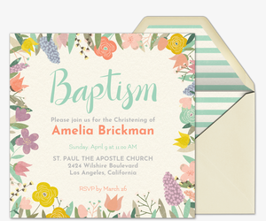 Online Invitations For Communion Baptism More