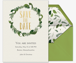 Green Save the Date Invitation