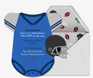 Football Jersey Onesie Invitation