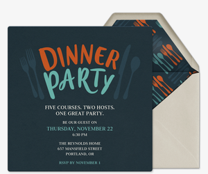 Forks & Knives Invitation