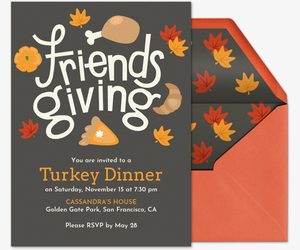 Friendsgiving Invite Invitation
