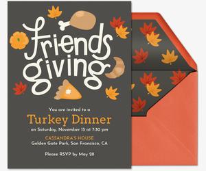 free online thanksgiving dinner invitations evite com