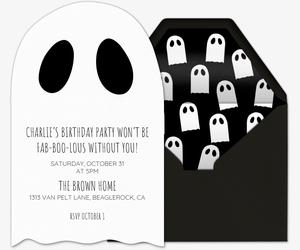 Ghost Eyes Invite Invitation