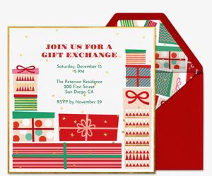 Gift Exchange Invitation