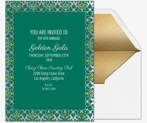 Golden Gala Invitation