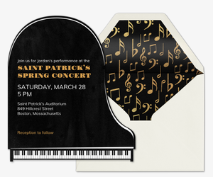Grand Piano Invitation