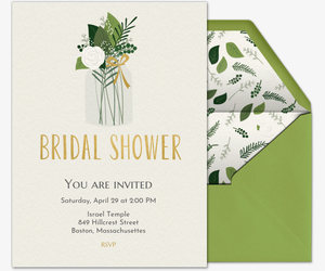 Design Your Own Invitation Green Bridal Shower