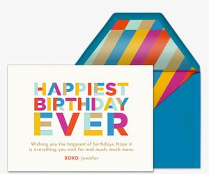 Birthday cards free online invitations happiest birthday ever invitation filmwisefo