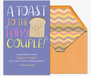 Happy Couple Toast Card