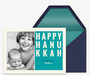 Happy Hanukkah Photo Invitation