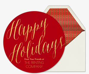 Happy Holidays Card Card