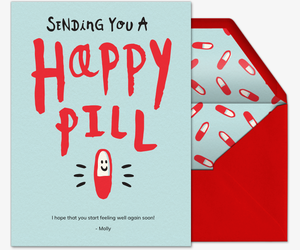 Happy Pill Invitation