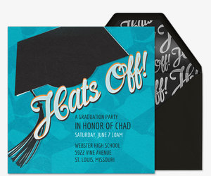 Hats Off Invitation