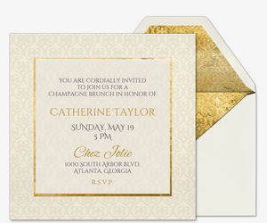 Heart of Gold Bridal Shower Invitation