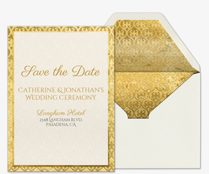 Heart of Gold Save the Date Invitation