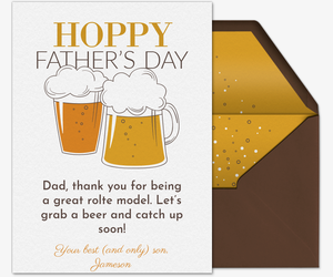 Hoppy Father's Day Card Invitation