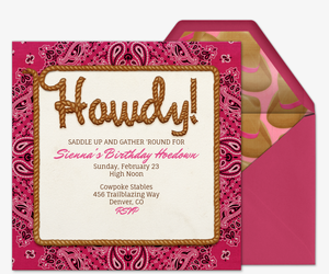 Free Theme Party Online Invitations