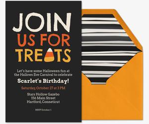 Join Us For Treats Invitation