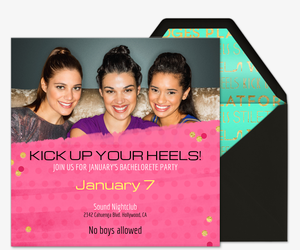 Kick Up Your Heels Invitation