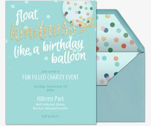 Kindness Balloon General Invite Invitation