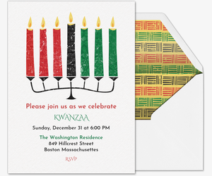 Kwanzaa Candles Invite Invitation