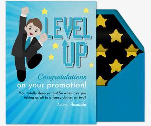Level Up Card Card