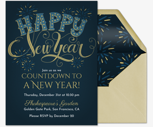Hy New Year Invitation