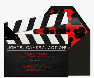 lights camera action invitation