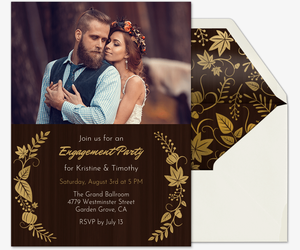 Fall Wedding Engagement Party Invitation