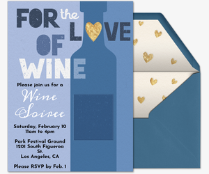 Love Of Wine Invitation