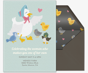 Mama Duck Invitation
