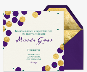 graphic regarding Free Printable Mardi Gras Invitations called No cost Mardi Gras Invites Evite
