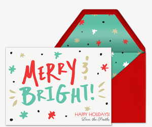 Merry and Brighter Card