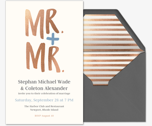 Mr. & Mr. Invite Invitation
