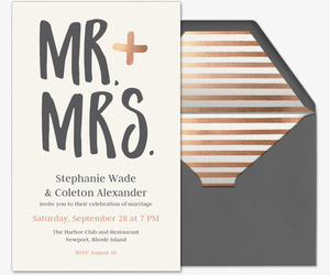 Mr. & Mrs. Invite Invitation