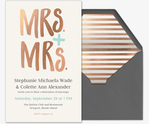 Mrs. & Mrs. Invite Invitation