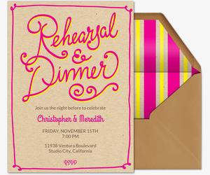free rehearsal dinner invitations evite