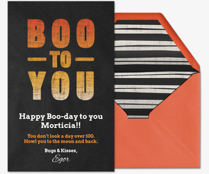 Boo Block Type  Card