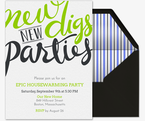 New Digs Housewarming Invitation