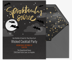 Spooktacular Soiree Invite Invitation