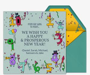 New Years Countdown Invitation